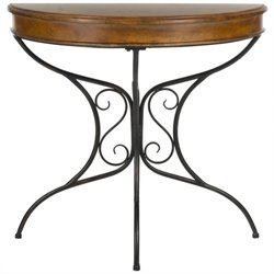 Safavieh Bertha Birch Wood Console in Dark Brown