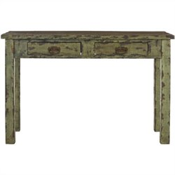 Safavieh Carl Fir Wood Console in Antique Green