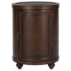 Safavieh Felix Birch Wood Side Table in Dark Brown