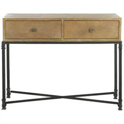 Safavieh Julian Ash Wood Console in Natural Color