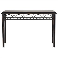 Safavieh Jacquelyn Birch Wood Console in Dark Brown