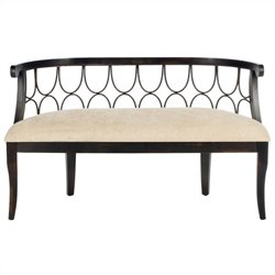 Safavieh Norma Birch Wood Bench in Dark Brown