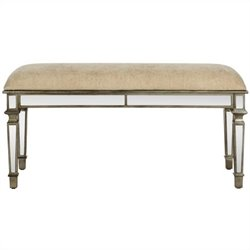 Safavieh Layla Birch Wood Bench in Dark Brown