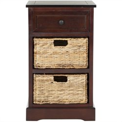 Safavieh Milan Side Storage Side Table in Dark Cherry