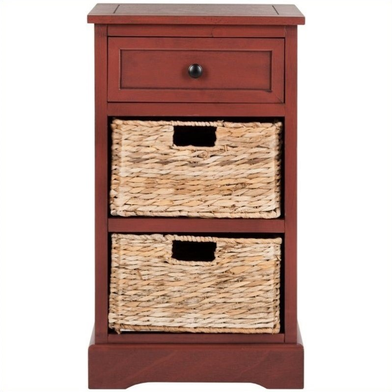 Safavieh Carrie Side Storage Side Table In Red Amh5700e