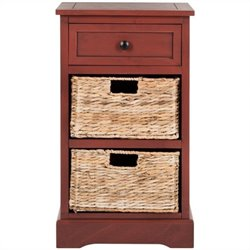 Safavieh Carrie Side Storage Side Table in Red