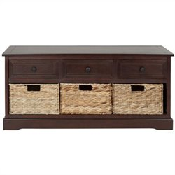 Safavieh Bud 3 Drawer Storage Unit in Dark Cherry