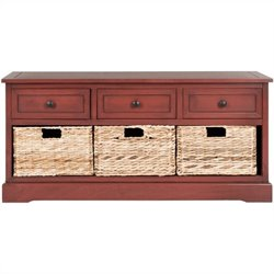 Safavieh Damien 3 Drawer Storage Unit in Red