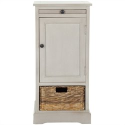 Safavieh Randy Wood Tall Storage Unit in Grey