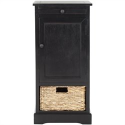 Safavieh Randy Wood Tall Storage Unit in Black