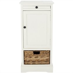 Safavieh Randy Wood Tall Storage Unit in Cream