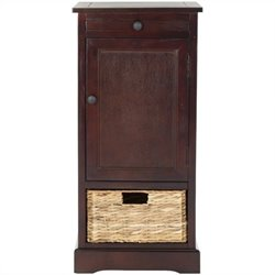 Safavieh Randy Wood Tall Storage Unit in Dark Cherry