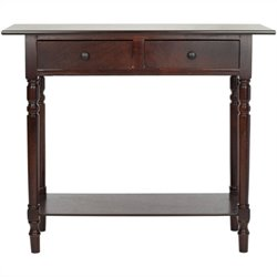 Safavieh Gary Wood Console in Dark Cherry