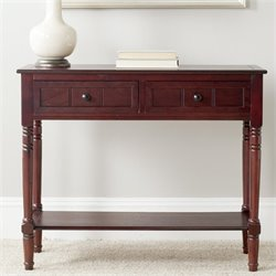 Safavieh Sam Wood Console in Dark Cherry