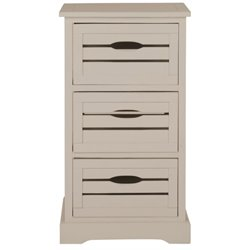 Safavieh Samara Pine 3 Drawer Cabinet in Grey