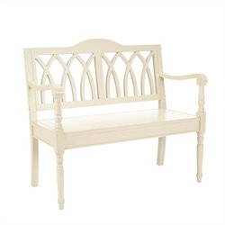 Safavieh Franklin Poplar Wood Bench in White