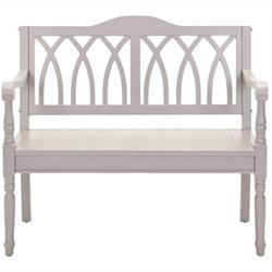 Safavieh Benjamin Pine Bench in Grey