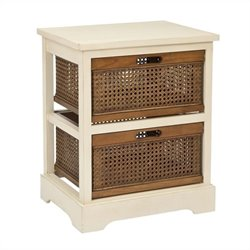Safavieh Willow Pine 2 Drawer Storage Cabinet in White