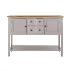 Safavieh Charlotte Elm and Pine Wood Sideboard in Grey