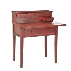 Safavieh Piper Cherry Fold-down Desk in Cherry and Oak