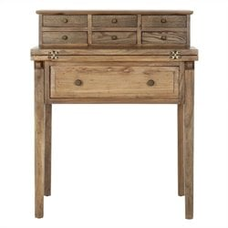 Safavieh Abigail Pine Wood Desk in Oak