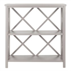 Safavieh Liam Pine Wood Open Bookcase in Grey