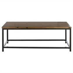 Safavieh Jax Fir Wood Coffee Table in Oak