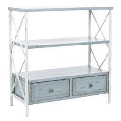 Safavieh Annabelle Pine Wood Console in Gray and White