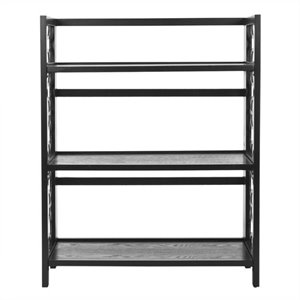 Safavieh Ron Pine Wood Small Bookcase in Black