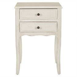Safavieh Colin Poplar Wood End Table in White