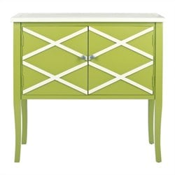 Safavieh Winona Poplar Wood Sideboard in Green and White