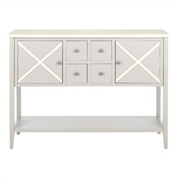 Safavieh Adrienne Poplar Wood Sideboard in Grey and White