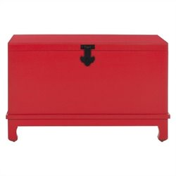 Safavieh Wesley Pine Wood Chest in Hot Red