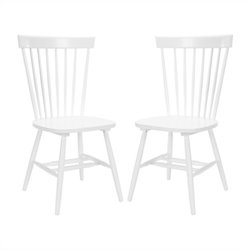 Safavieh Joslyn Oak Wood Chair in White (Set Of 2)