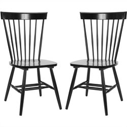 Safavieh Joslyn Oak Wood Chair in Black (Set Of 2)