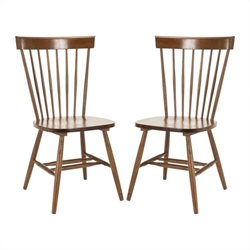 Safavieh Joslyn Oak Wood Chair in Oak (Set Of 2)