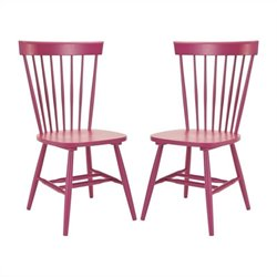 Safavieh Joslyn Oak Wood Chair in Rasberry (Set Of 2)