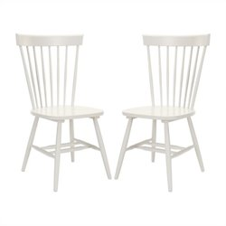 Safavieh Joslyn Oak Wood Chair in Grey (Set Of 2)