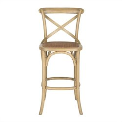 Safavieh Franklin Oak Wood Barstool in Weathered Oak