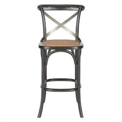 Safavieh Eleanor Oak Wood Barstool in Hickory