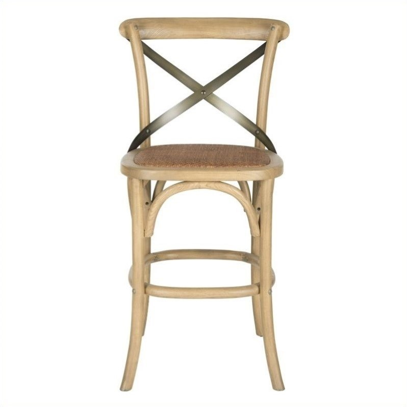 Safavieh Eleanor Oak Wood 24 Quot Counterstool In Weathered