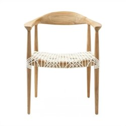 Safavieh Bentley Teak Arm Chair in Light Oak