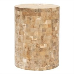 Safavieh Beckham Teak Stool in Brown
