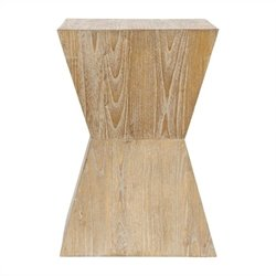 Safavieh Kole Sungkai Wood Side Table in Brown