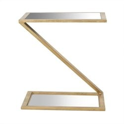 Safavieh Andrea Iron and Mirror Accent Table in Gold