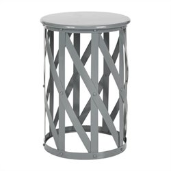 Safavieh Bertram Iron Stool in Grey