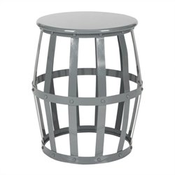 Safavieh Rinaldo Iron Stool in Grey