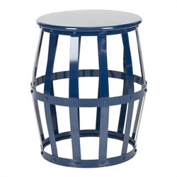 Safavieh Rinaldo Iron Stool in Navy
