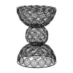 Safavieh Timmy Iron Wire Stool in Black