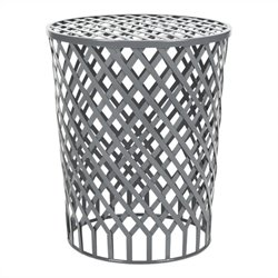 Safavieh Thor Welded Iron Strips Stool in Grey Epoxy